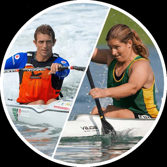 David & Nikki Mocke Stroke2max Kayak Ergometer Paddler