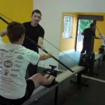 indoor kayak ergometer stroke correction